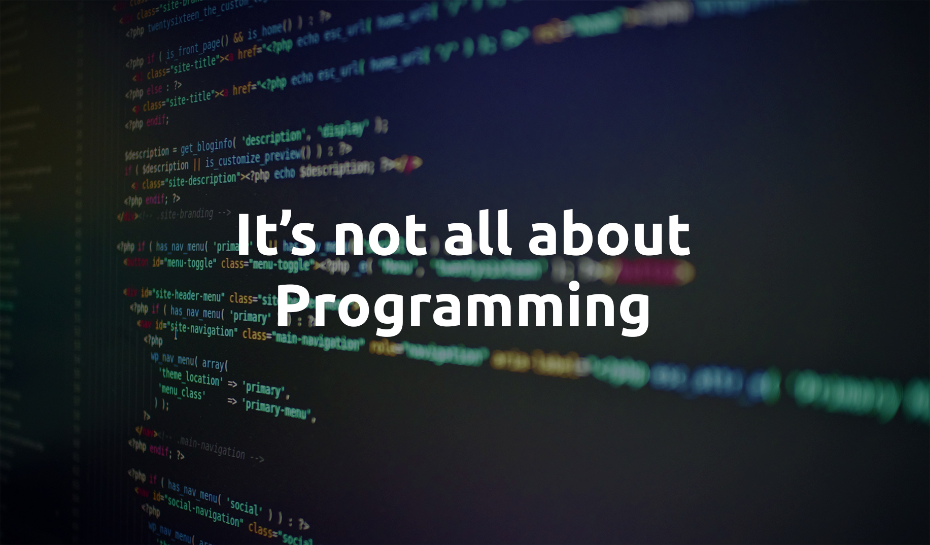 A career in computing is not all about Programming