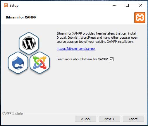 XAMPP installation on Windows 10 – Bitnami for XAMPP