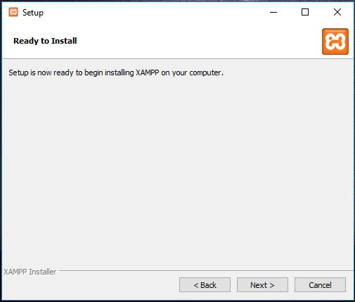 XAMPP installation on Windows 10 – Ready to install